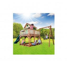 AXI Spielhaus Liam mit Einzelschaukel Grundriss