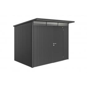 Biohort Gerätehaus Avantgarde mit Einzeltür - 260 x 180 cm (Größe L) - dunkelgrau-metallic B-Ware