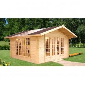 Palmako Gartenhaus Irene 13,9 m² - 34 mm - naturbelassen