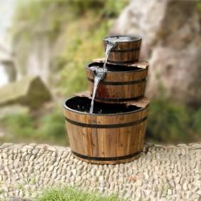 Gardenforma Wasserspiel Dublin mit Holzbecken