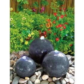 Gardenforma Wasserspiel-Set Caroline mit 3 Granitkugeln
