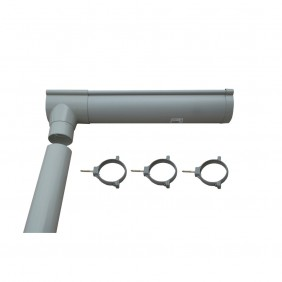 Karibu PVC Dachrinne für Gartenhaus Cubus Front/Eck