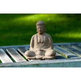 Kunststeinfigur Japan Buddha