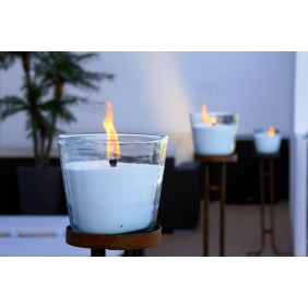 gartenselect Vela Kerze im Glas Ø 17,5 cm