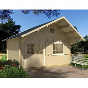Palmako Ferienhaus Emily 28,8 m² - 44 mm - naturbelassen