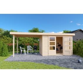 Krongart Gartenhaus Herzogenhorn 557 x 209 cm naturbelassen - 19 mm