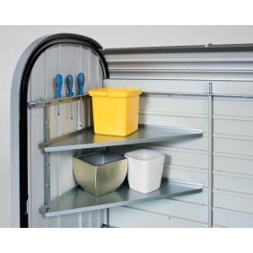 Eckregale-Set für Biohort Rollladenbox Storemax 120 und 160 Metallgerätehaus
