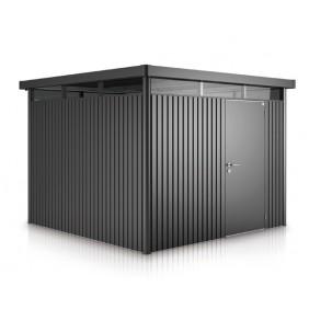 Biohort Gerätehaus HighLine H4 mit Einzeltür dunkelgrau metallic