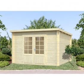 Palmako Gartenhaus Ella 8,7 m² - 28 mm - naturbelassen