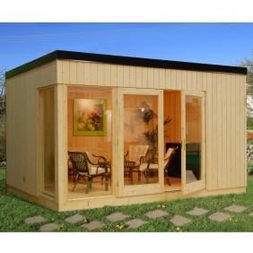 Palmako Nordic-Haus Solveig 13,6 m² - 18+70 mm - naturbelassen