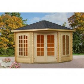 Palmako Pavillon Melanie 6,8 m² - 28 mm - Gestaltungsbeispiel