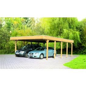 Skan Holz Friesland - Flachdach Doppelcarport Profil - Breite 557 cm Nadelholz