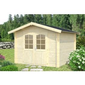 Palmako Gartenhaus Lotta 7,3 m² - 28 mm - naturbelassen