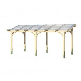Skan Holz Terrassenüberdachung Tivoli mit geschwungenen Sparren Breite 648 cm