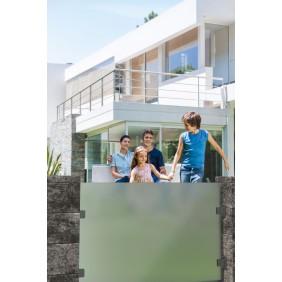 WESERWABEN Vario-Line Sichtschutz-Glaselement - Gestaltungsbeispiel