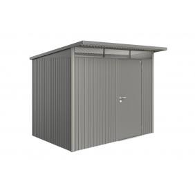 Biohort Gerätehaus Avantgarde mit Einzeltür-260 x 180 cm (Gr. L)-quarzgrau-metallic B-Ware