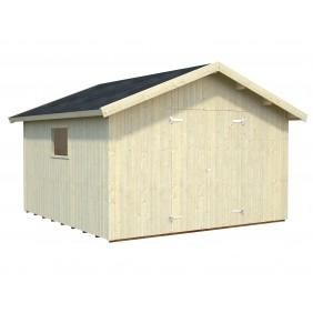 Palmako Gerätehaus Nils 12,1 m² - 16 mm - naturbelassen