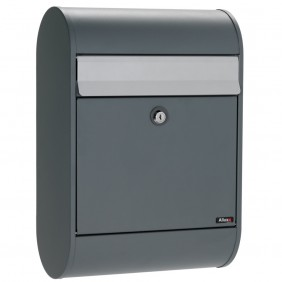 ALLUX 5000 Design Briefkasten - Anthrazit, alugefärbter Einwurf