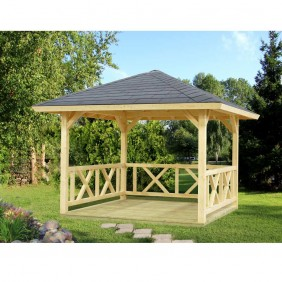 Palmako Pavillon Betty 9,0 m² - naturbelassen