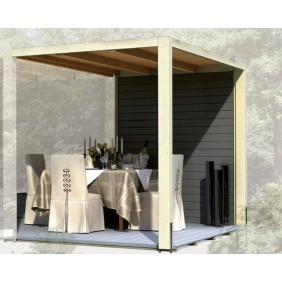 Karibu Seitenwand für Gartenhaus Cubus Front und Cubus Eck