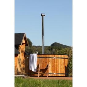 Wolff Finnhaus Badebottich Hot Tub Ø 200 cm Thermoholz mit Innenofen