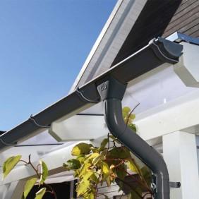Skanholz Metall Regenrinnen-Set für Carport Taunus
