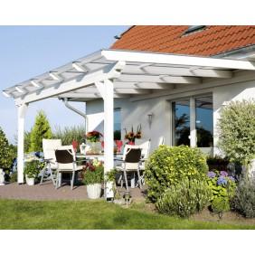Skan Holz Terrassenüberdachungen Leimholz o. Mittelpfosten weiß
