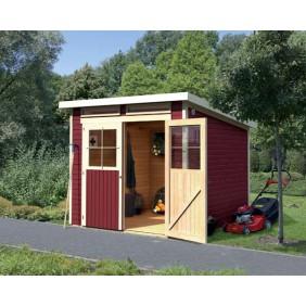 Gerätehaus aus Holz für gemütliches Flair