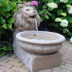 Ubbink Wasserspiel Basel mit Löwenkopf