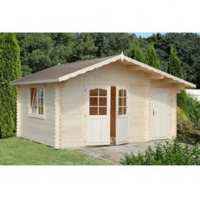 Palmako Gartenhaus Emma 14,2 m² - 34 mm - naturbelassen