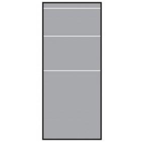 T&J VETRO Glas-Sichtschutz Streifen-Dekor Typ Rechteck 120