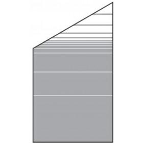 T&J VETRO Glas-Sichtschutz Streifen Dekor Typ Schräg 120/180