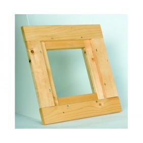 Skan Holz Fensterelement Größe 40 x 40 cm