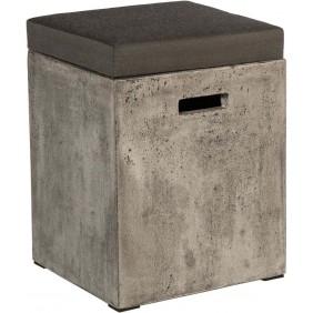 """Stern Hocker """"Fontana"""" basaltgrau Beton 35 x 35 x 46 cm"""