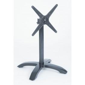 Stern Tischgestell Roma 2 Aluminium eisengrau 4-Fuß abklappbar 66 x 66 x 72 cm