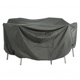 Stern Schutzhülle für Sitzgruppen oval in grau 220x320x90cm