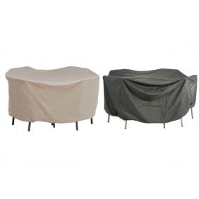 Stern Schutzhülle für Sitzgruppe oval Dessin natur oder grau 210 x 250 x 90 cm