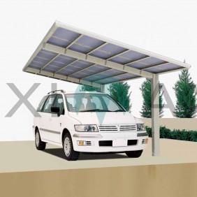 Ximax Carport Linea Typ 60 495 x 272 cm Edelstahl-Look