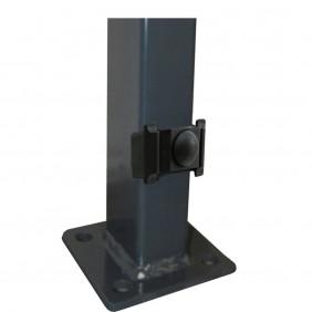 Kraus DS Rechteckpfosten K / P 60 x 40 mm mit angeschweißter Bodenplatte
