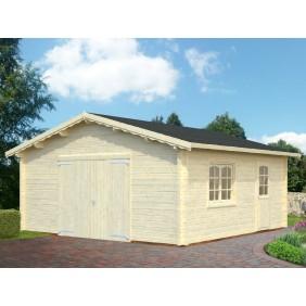 Palmako Garage Roger 27,7 m² - 70 mm - mit Holztor