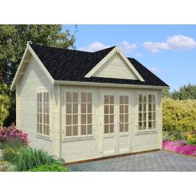Palmako Gartenhaus Claudia 11,5 m² - 34 mm - naturbelassen