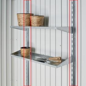 Regalsteher für Biohort Gerätehaus Avantgarde und HighLine Metallgerätehaus