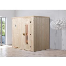 Weka Sauna Halmstad 1 mit Holztür und Fronteinstieg - 68 mm