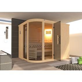 Weka Sauna Sara 1 - Designsauna mit abgerundeter Glasfront