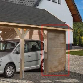 Weka Rückwandelement für Carport Leimholz Flach- und Satteldach (Abb. ähnlich)