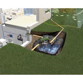Graf Regenwasser Flachtank Platin Komplettpaket Eco-Plus begehbar