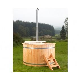 Wolff Finnhaus Badebottich Hot Tub Durchmesser 160 cm (Badefass) - Anstrich Kiefer