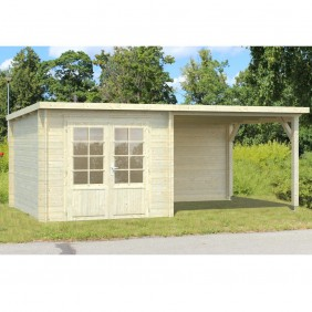 Palmako Gartenhaus Ella 6,9 + 8,2 m² - 28 mm - naturbelassen