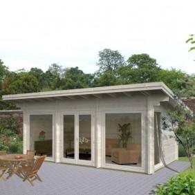 Palmako Gartenhaus Heidi 19,7 m² - 70 mm - naturbelassen