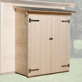 Weka Anbauschuppen für 19 mm und 21 mm Häuser natur